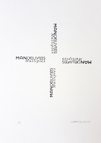 élices Manoeuvres multiples, 4 tampons, 4 exemplaires, 29,7x30cm, 2018