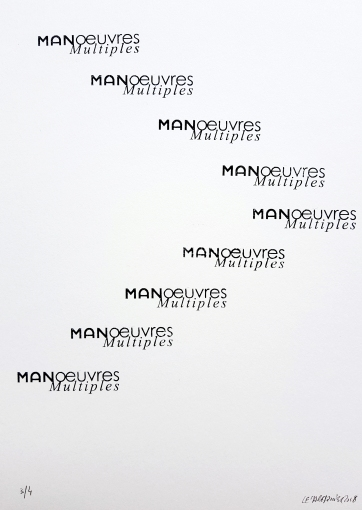 Chevron Manoeuvres multiples, 9 tampons, 4 exemplaires, 29,7x30cm, 2018