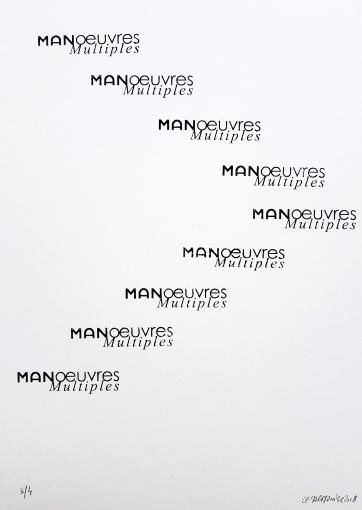 Chevron Manoeuvres multiples, 9 tampons, 4 exemplaires, 29,7x30cm, 2018