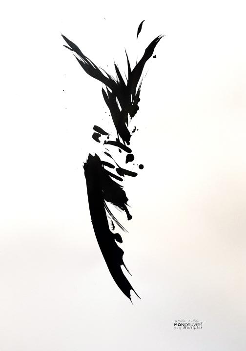 fétiche mouvement, encre sur papier, 2018,