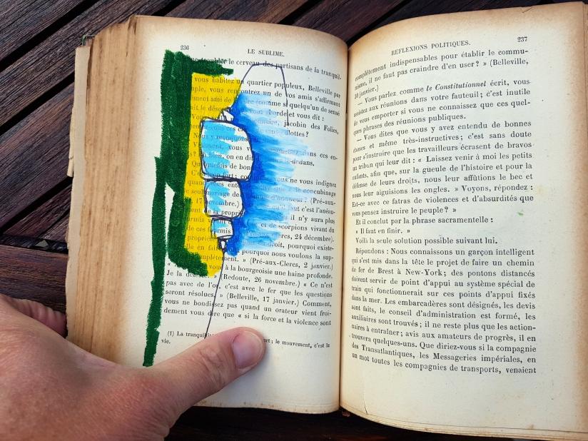le sublime, encre et pastel à l'huile sur papier, 205 pages dessinées, 2011, image 13