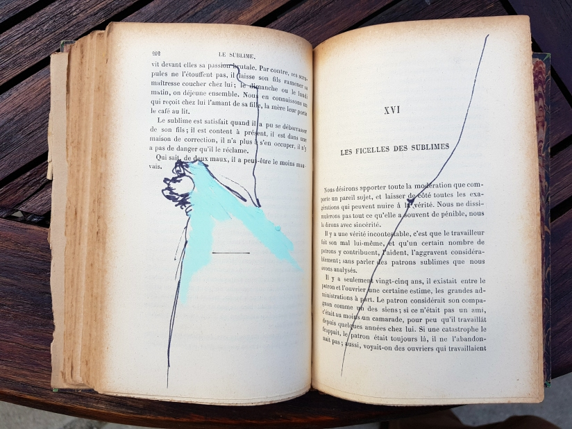 le sublime, encre et pastel à l'huile sur papier, 205 pages dessinées, 2011, image 17