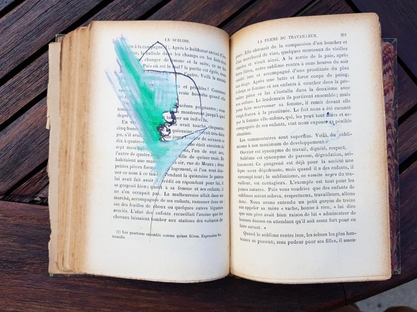 le sublime, encre et pastel à l'huile sur papier, 205 pages dessinées, 2011, image 18