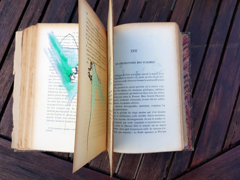 le sublime, encre et pastel à l'huile sur papier, 205 pages dessinées, 2011, image 21