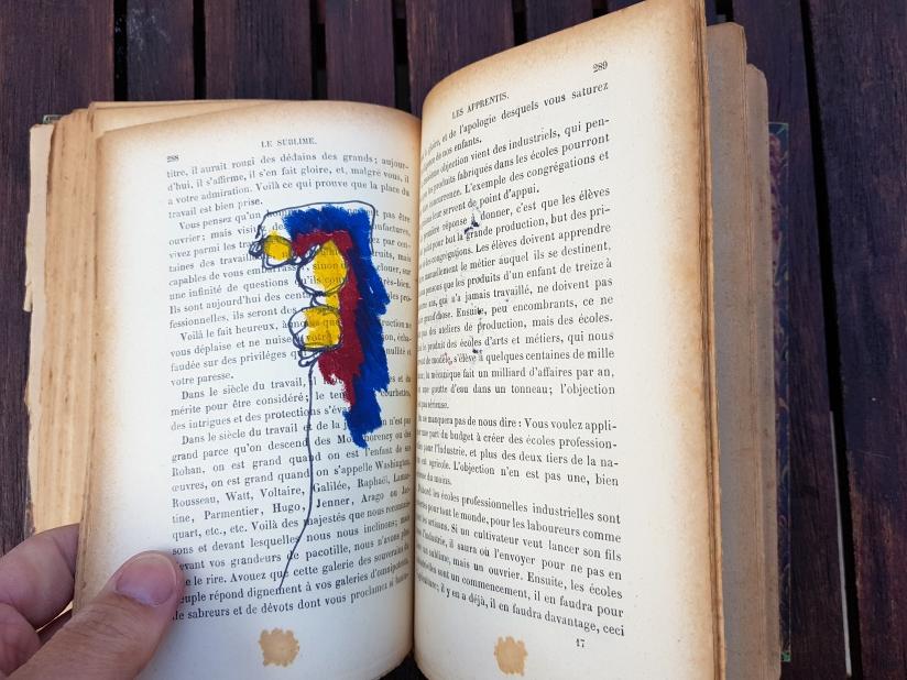 le sublime, encre et pastel à l'huile sur papier, 205 pages dessinées, 2011, image 23