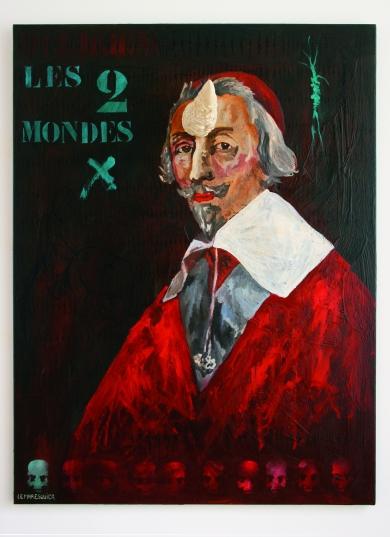 Richelieu, Les deux mondes, Huile sur toile et corne en résine, 2008