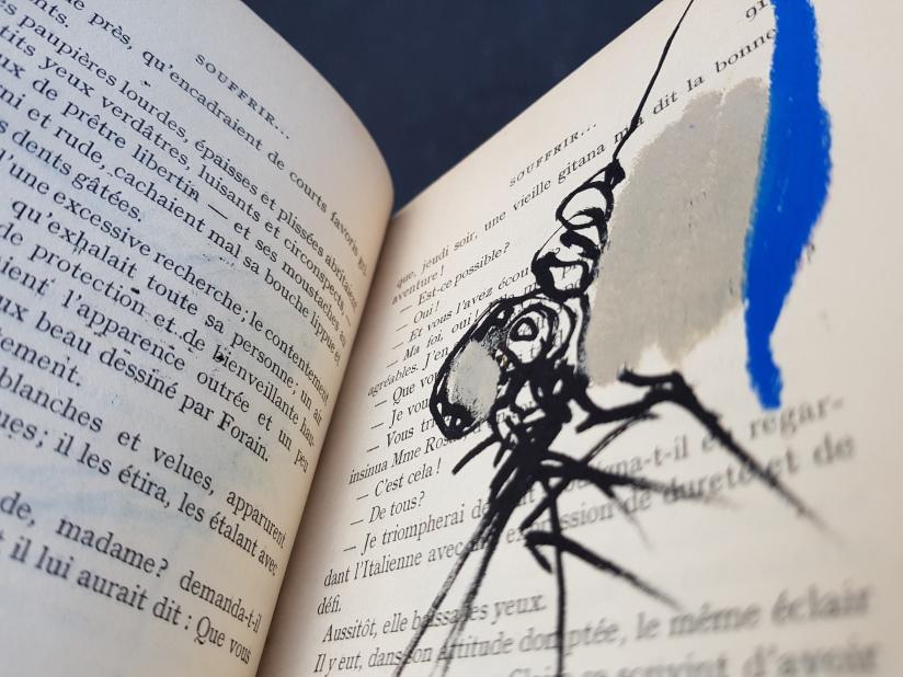 souffrir, encre et pastel à l'huile sur papier, 169 pages dessinées, 2014, image 10