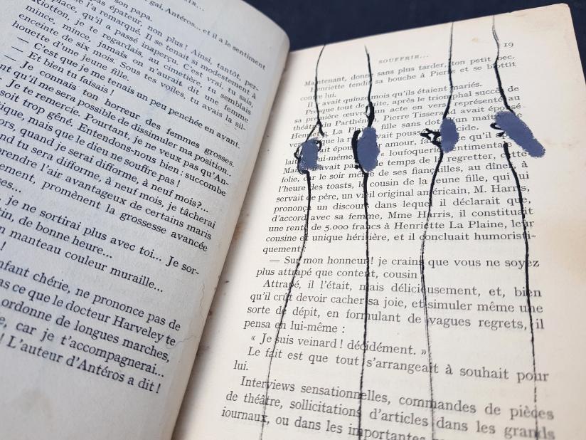 souffrir, encre et pastel à l'huile sur papier, 169 pages dessinées, 2014, image 12