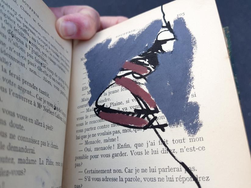 souffrir, encre et pastel à l'huile sur papier, 169 pages dessinées, 2014, image 13