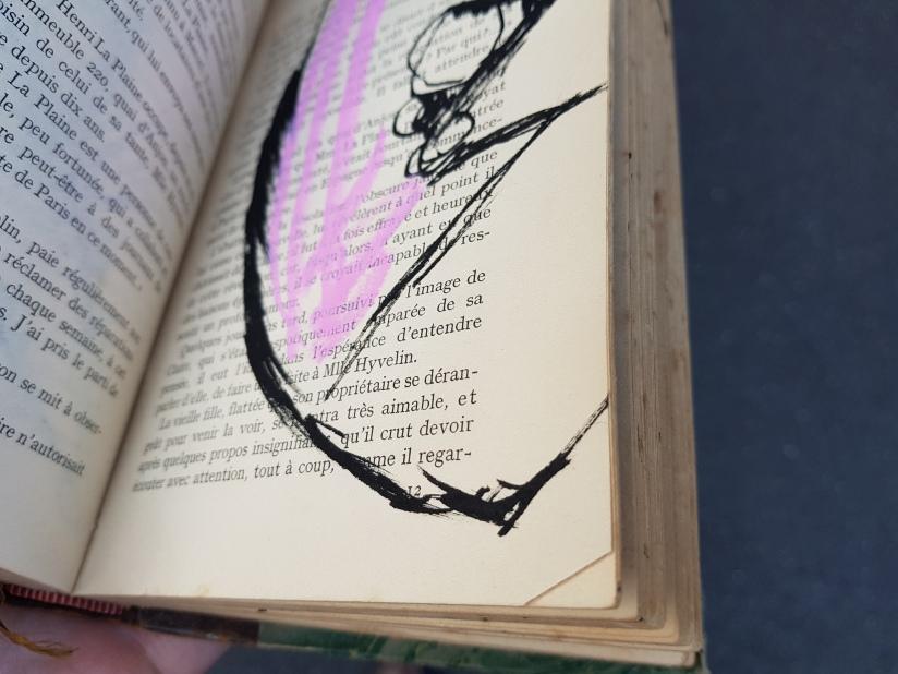 souffrir, encre et pastel à l'huile sur papier, 169 pages dessinées, 2014, image 15