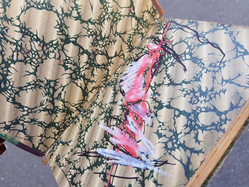 souffrir, encre et pastel à l'huile sur papier, 169 pages dessinées, 2014, image 2