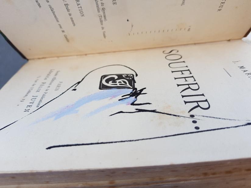 souffrir, encre et pastel à l'huile sur papier, 169 pages dessinées, 2014, image 4