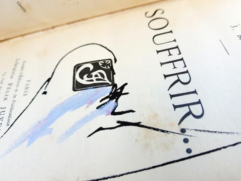 souffrir, encre et pastel à l'huile sur papier, 169 pages dessinées, 2014, image 5