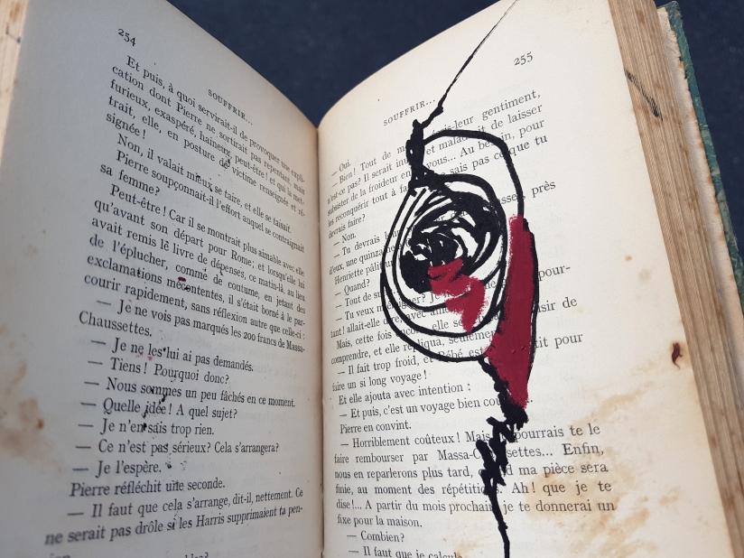souffrir, encre et pastel à l'huile sur papier, 169 pages dessinées, 2014, image 9