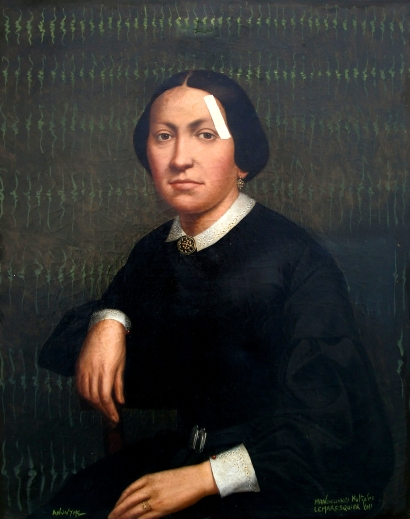spolia le pansement, huiel sur toile du XIXe siècle, 2011, 80x65