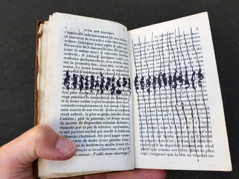 suite des histoires et paraboles, encre sur papier, 135 pages dessinées, 2011, image 10
