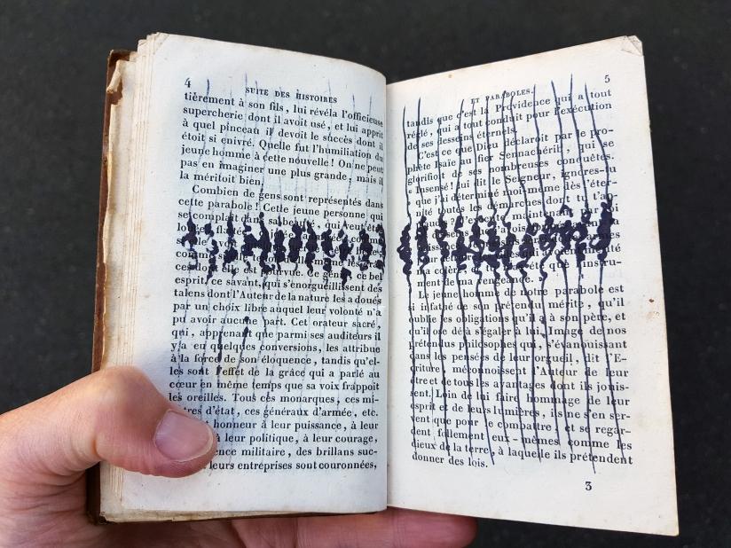 suite des histoires et paraboles, encre sur papier, 135 pages dessinées, 2011, image 11