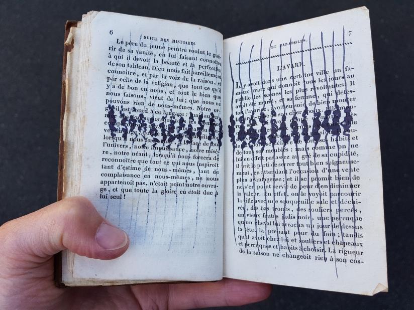 suite des histoires et paraboles, encre sur papier, 135 pages dessinées, 2011, image 12