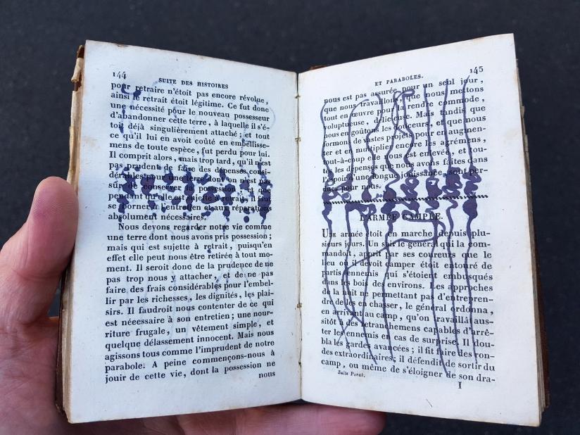 suite des histoires et paraboles, encre sur papier, 135 pages dessinées, 2011, image 14