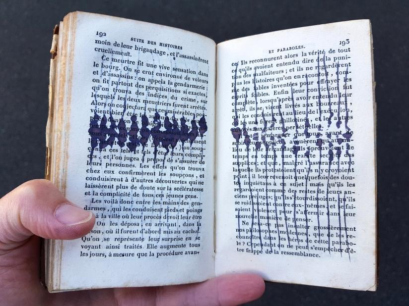 suite des histoires et paraboles, encre sur papier, 135 pages dessinées, 2011, image 18