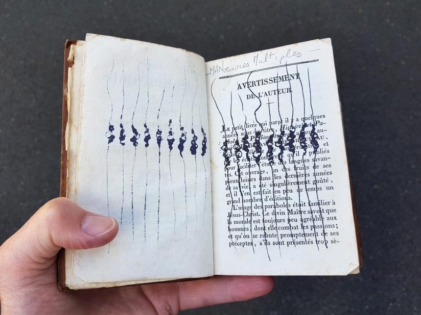suite des histoires et paraboles, encre sur papier, 135 pages dessinées, 2011, image 8
