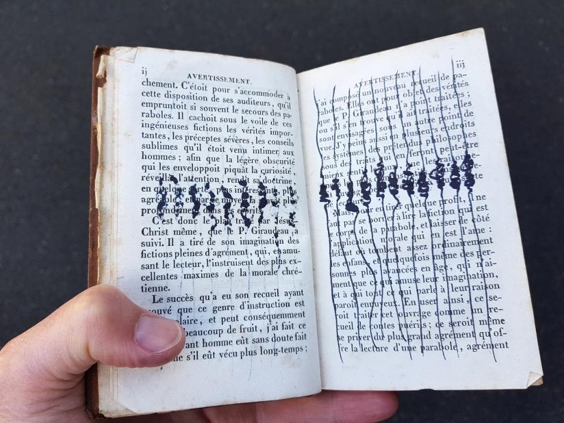suite des histoires et paraboles, encre sur papier, 135 pages dessinées, 2011, image 9